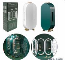 Porta Joias / Organizador de Acrílico Dobrável 3 Compartimentos com Espelho 40x23cm - Tatiana Prates