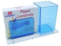 Porta lapis/lembrete azul clear c/papel 948.2 Acrimet -