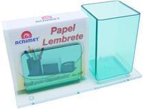 Porta lapis/lembrete verde clear c/papel 948.5 Acrimet -