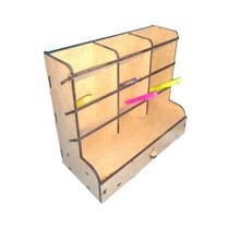 Porta Lápis + Porta Treco Organizador Mesa Escritório - Ideale Mdf