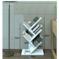 Porta livros de chão (p)  decoração com kit de instalação fred planejados -