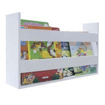 Porta Livros E Revistas de Parede 50x30x11 Branco - Kapos