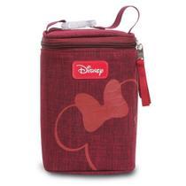 Porta mamadeiras Minnie Disney Babygo vermelha -