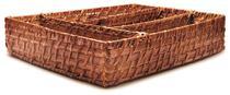 Porta Manteiga de Bambu 20x13x6,5cm Tyft alta qualidade Yoi -
