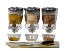 Porta Mantimentos para Cereais KIT COM 03 Dispensers de Parede BRANCO C/ Dosador Automático - An-Cobrirel
