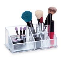 Porta Maquiagem e Batons em Acrílico Com 9 Divisórias - Arthi