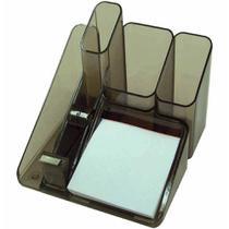 Porta objetos com suporte para fita adesiva fume / un / menno -