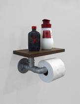 Porta Papel Higiênico Acessório para Banheiro Papeleira Suporte de Parede - Prata Laca - Formalivre