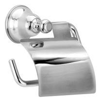 Porta Papel Higiênico Metal Parede Banheiro C/ Tampa Premium - Tfc