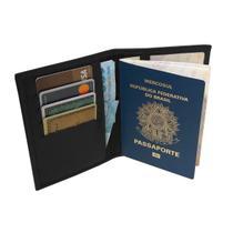 Porta Passaporte - Carteira de Trabalho - Unissex de Mão em Couro (835TNPP) Porta Cartão, Dinheiro, Documento de Viagem, Travel Check - Kênia Kátia