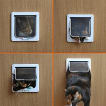 porta pet com trava para portas de PVC, Madeira ou Alvenaria 15 x 15 cm tamanho P - Action Store Uti - Action Store Utilidades