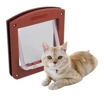Porta Pet Door Para Cães E Gatos Até 7kg Com Trava 4 Funções - Desembrulha Presentes