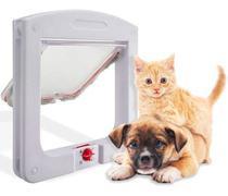 Porta Pet Door Para Cães e Gatos Até 7kg Com Trava 4 Funções - On Line