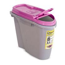 Porta Ração Dispenser Home Plast Pet 8L Rosa -