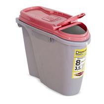 Porta Ração Dispenser Home Plast Pet 8L Vermelho -