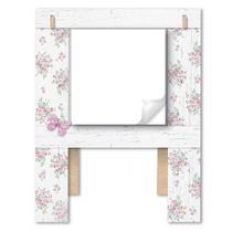 Porta Recado Borboleta com Flor 17,5x23 em MDF DHPM5-005 - Litoarte -