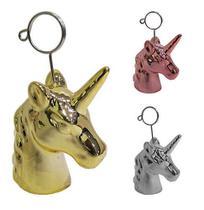 Porta Recado Unicornio De Porcelana Metalizado 10X5Cm - Fu xing