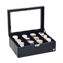 Porta Relógio Sintético Croco com 12 Divisórias Maiores - Total Luxo