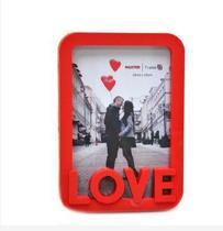 Porta Retrato 10cm15cm Moldura de Plástico - LOVE - Vermelho - N/D