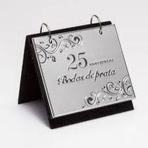 Porta Retrato  10x15cm com Album Bodas de Prestige - Prata - 27036 - Rojemac