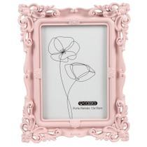 Porta Retrato 13x18cm Plástico Cazza Louvre Rosa -