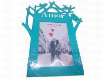 Porta Retrato 15cm10cm Plástico - Amor - Azul - N/D