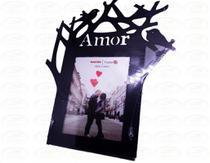 Porta Retrato 15cm10cm Plástico - Amor - Preto - N/D