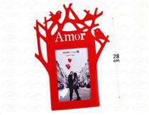 Porta Retrato 15cm10cm Plástico - Amor - Vermelho - N/D