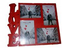Porta Retrato 15cm10cm Plástico - LOVE FOTOS Vermelho - N/D