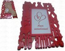 Porta Retrato 15cm10cm Plástico - Mãe Coração - N/D