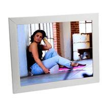 Porta Retrato Branco de Madeira 20x25 - PRSC-B - Tudoprafoto