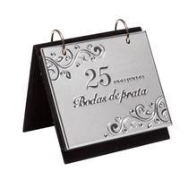 Porta Retrato Com Álbum Bodas De Prata Para 72 Fotos 10x15Cm Prestige -