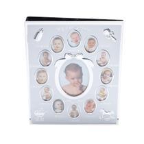 Porta Retrato De Alumínio Com Álbum Para 76 Fotos Infantil Prestige -