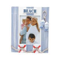 Porta Retrato De Madeira 13x18cm Deck Beach Prestige -