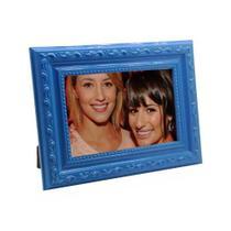 Porta Retrato de Madeira c/ Textura 10x15 - PR16-11 Azul - Tudoprafoto