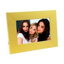 Porta Retrato de Madeira coloridos 10x15 - PR16-2 Amarelo - Tudoprafoto