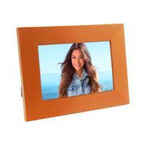 Porta Retrato de Madeira coloridos 10x15 - PR16-4 Laranja - Tudoprafoto