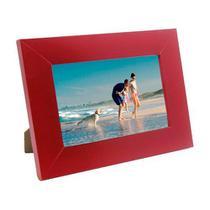 Porta Retrato de Madeira coloridos 10x15 - PR16-6 Vermelho - Tudoprafoto