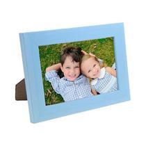 Porta Retrato de Madeira Lisa 10x15 - PRSC-AZ Azul - Tudoprafoto