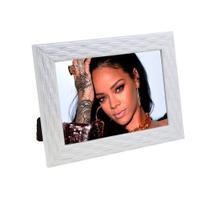 Porta Retrato de Madeira Palha 10x15 - PRSC-1 Branco - Tudoprafoto