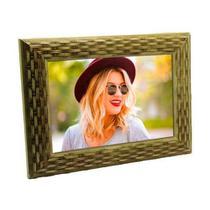 Porta Retrato de Madeira Palha 13x18 - PR21-3 Textura - Tudoprafoto