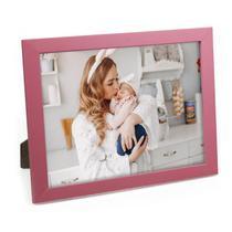 Porta Retrato de Madeira Rosa Bebê 20X25 - PRSC-R - Tudoprafoto