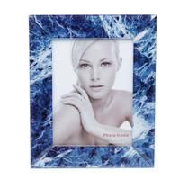 Porta retrato de mármore azul e branco 13x18cm - Lyor