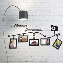Porta Retrato de Parede em MDF - Em MDF Branco - Neusa Artesanatos