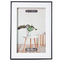 Porta-Retrato de Plástico 13X18cm Cazza Linea Preto -