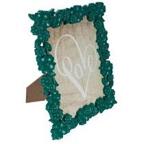 Porta-Retrato Flowerfull em Plástico 13x18cm Verde Folha - Dynasty -