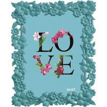 Porta Retrato Love 5514 13x18 Azul Mart -