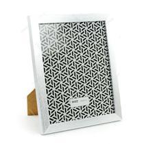 Porta retrato moldura prata escovado 13x18cm luxo com vidro foto painel familia namorados - Gimp