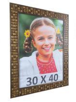 Porta Retrato Moldura Super Luxo 30X40 Com Vidro Mosaico - Camila Artesanatos