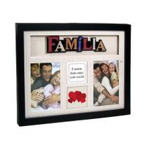 Porta-retrato multi fotos 4 Janelas Família - Yes